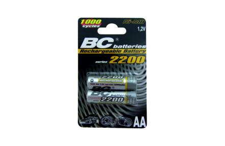 Nabíjateľná 1,2V tužková batéria BCR6/2200/2BP
