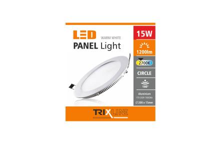 Podhľadové LED svietidlo TRIXLINE – okrúhle 15W
