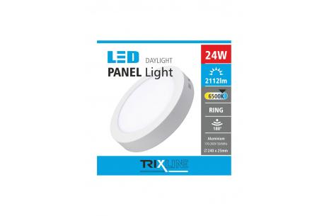 Podhľadové LED svietidlo TRIXLINE – prisadené 24W studená biela