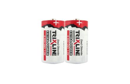 Zinkochloridový veľký 1,5V monočlánok BC R20/2P TRIXLINE Extra Power