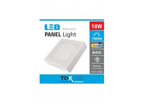 Podhľadové LED svietidlo TRIXLINE – prisadené hranaté 18W studená biela