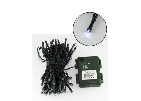 Vianočná LED reťaz Trixline studená biela