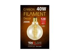 Dekoračná stmievateľná žiarovka Trixline 40W E27 (G80-S24)