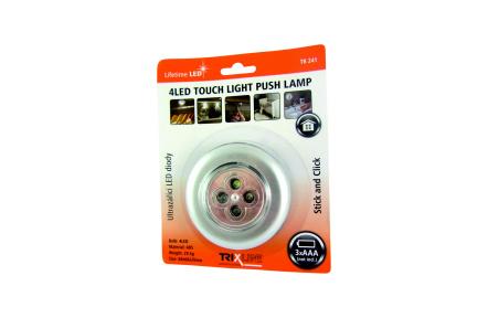 LED nočné dotykové svetlo TR 241, strieborné
