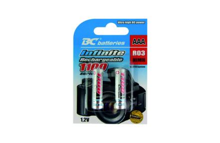 Nabíjateľná 1,2V mikrotužková batéria BCR03/1100/2BP RTU Infinite