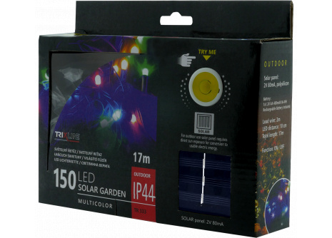Solárna vianočná LED reťaz TR 333 multicolor