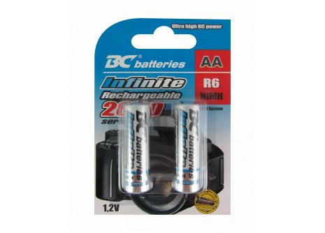 Nabíjateľná 1,2V tužková batéria  BCR6/2600/2BP RTU Infinite