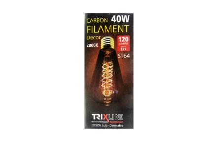 Dekoračná stmievateľná žiarovka Trixline 40W E27 (ST64-S24)