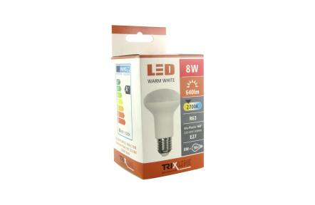 LED žiarovka TRIXLINE 8W R63 E27 2700K