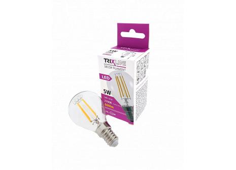 Dekoračná LED žiarovka FILAMENT 5W G45 E14 teplá biela