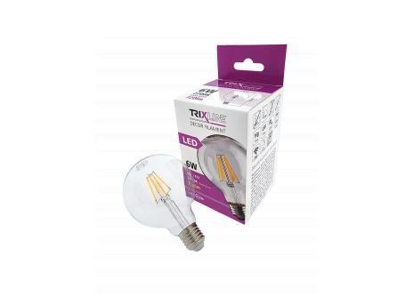 Dekoračná LED žiarovka FILAMENT Trixline 6W G-95 E27 teplá biela