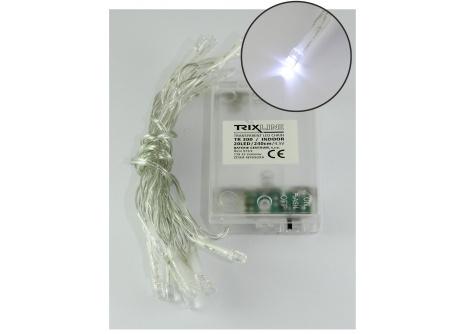 Vianočná LED reťaz studená biela