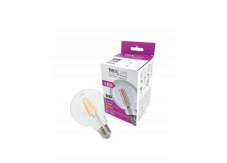 Dekoračná LED žiarovka FILAMENT Trixline 8W G-95 E27 teplá biela