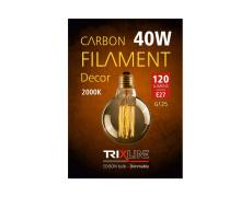 Dekoračná stmievateľná žiarovka Trixline 40W E27 (G125-SC29)