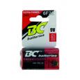 Zinkochloridová 9V batéria BC 6F22/1P