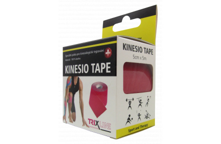 Trixline KINESIO páska 5cm x 5m červená