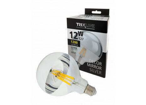 Dekorační LED žárovka Trixline DECOR MIRROR G125, 12W SILVER