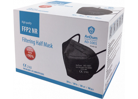 Respirátor FFP2 AD-1001 čierny