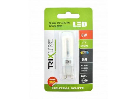 LED žiarovka BC TR 6W G9 neutrálna biela