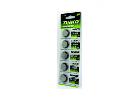 Líthiová gombíková 3V batéria TINKO CR1632