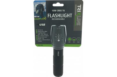 Ručné USB nabíjacie LED svietidlo so zoomom TR 346