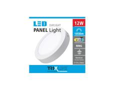 Podhľadové LED svietidlo TRIXLINE – prisadené kruhové 12W studená biela