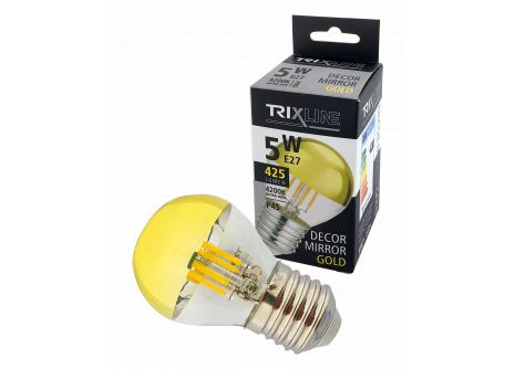 Dekorační LED žárovka Trixline DECOR MIRROR P45, 5W GOLD