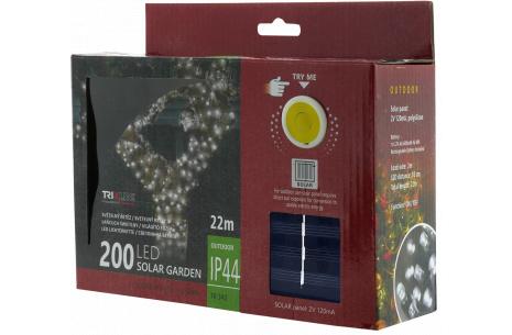 Solárna vianočná LED reťaz TR 342 studená biela